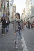 H&M jeans - H&M jacket - H&M shirt - 8 Seconds Korea t-shirt - Vans sneakers