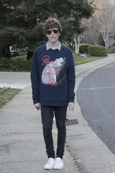 Dr Denim jeans - asos blazer - H&M shirt - Ray Ban sunglasses