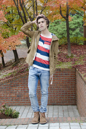 H&M t-shirt - Frank Wright boots - H&M jeans - H&M jacket