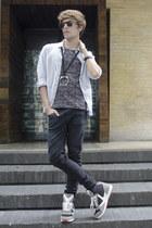 H&M t-shirt - asos jeans - asos shirt - Ray Ban sunglasses