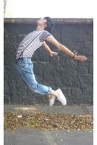 Zara jeans - Pull & Bear t-shirt - Zara sneakers - asos bracelet