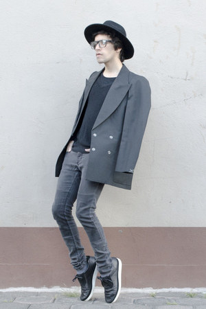 H&M jeans - H&M hat - asos sweater - maison martin margiela blazer