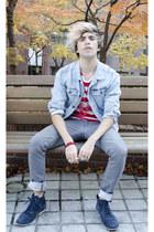 Frank Wright boots - Zara jeans - Pull & Bear jacket - Zara t-shirt