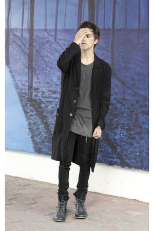 Burberry accessories - asos boots - H&M coat - Dr Denim jeans - asos sweater