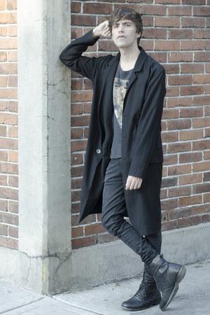 H&M coat - asos boots - Dr Denim jeans - asos t-shirt