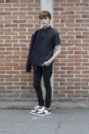 Tommy Hilfiger t-shirt - Dr Denim jeans - Forever 21 jacket