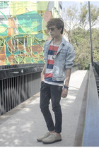 H&M jeans - pull&bear jacket - Bamboo Life Co sunglasses - H&M t-shirt