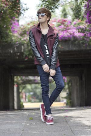 Zara jacket - asos jeans - Jeepers Peepers sunglasses - Vans sneakers
