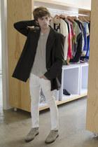 H&M ring - Zara jeans - maison martin margiela jacket - Kr3w sneakers
