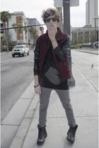 Zara jeans - asos boots - Zara jacket - Ray Ban sunglasses