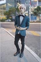 H&M blazer - asos boots - asos jeans - asos shirt - asos tie