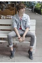 Zara jeans - Frank Wright boots - Pull & Bear jacket - Zara t-shirt