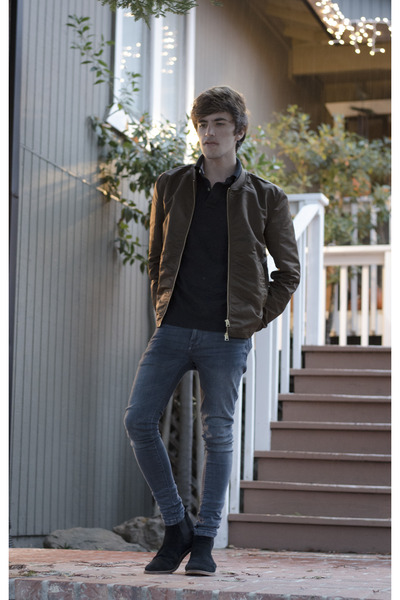Frank Wright boots - pull&bear jeans - H&M jacket - Tommy Hilfiger t-shirt