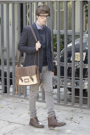 Paruno boots - Zara jeans - asos blazer - H&M shirt - asos bag - asos glasses
