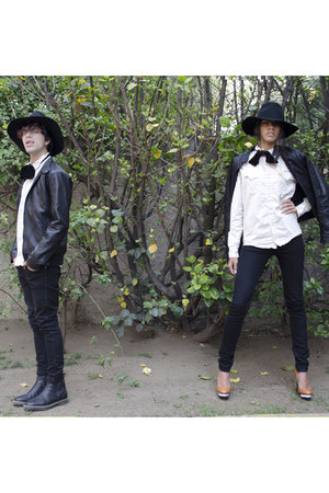pull&bear boots - Dr Denim jeans - Woderplace hat - Forever 21 jacket
