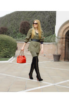 black MyBelleWardrobecom boots - army green Tommy Hilfiger coat - army green kar