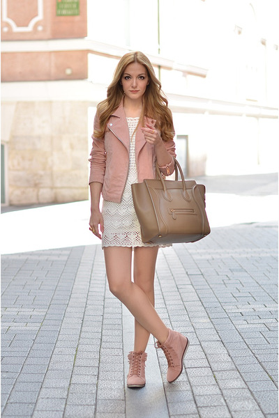 Mango dress - Mango jacket - Mango sneakers