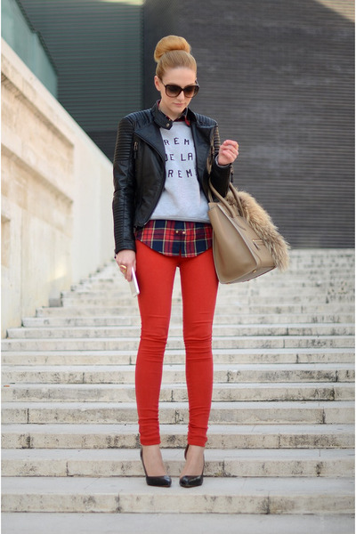 Zara jacket - DrDenim jeans - Celine bag