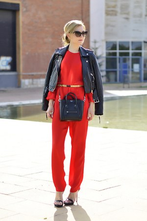 asos suit - River Island jacket - Celine bag