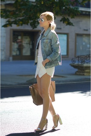 Zara shorts - 7 for all mankind jacket - Celine bag