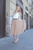 nude Mango skirt - white Petit Bateau top