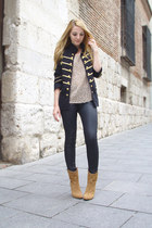 Mango boots - The Kooples jeans - Queens Wardrobe jacket - Mango  DIY t-shirt -