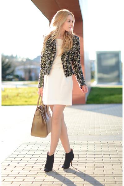 karl jacket - Mango dress - Celine purse
