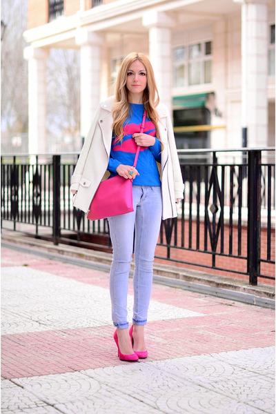 Lacambra bag - Zara coat - AWear sweater