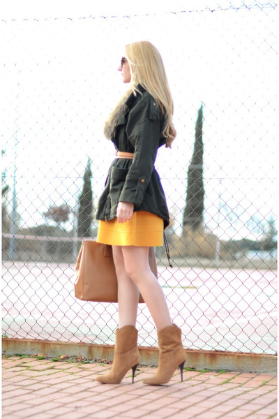 Maje dress - asos coat - Prada purse