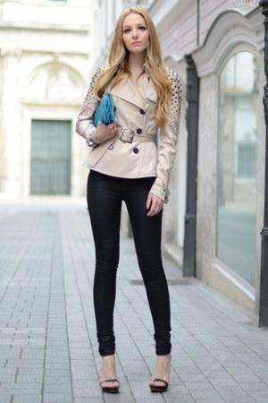 philipp plein jacket - The Kooples jeans - Zara sandals