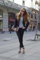 black The Kooples blazer - heather gray  Bicyclette t-shirt - black The Kooples