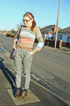 salmon fair isle Thrush on Etsy jumper - dark brown Office shoes