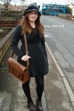 dark brown Office shoes - charcoal gray Darling coat - heather gray River Island