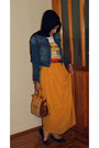Blue-jeans-lc-waikiki-jacket-black-scarf-mustard-cream-celine-bag