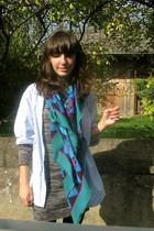 vintage shirt - H&M dress - vintage scarf