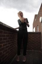 black Heureka romper - beige sueded Topshop heels