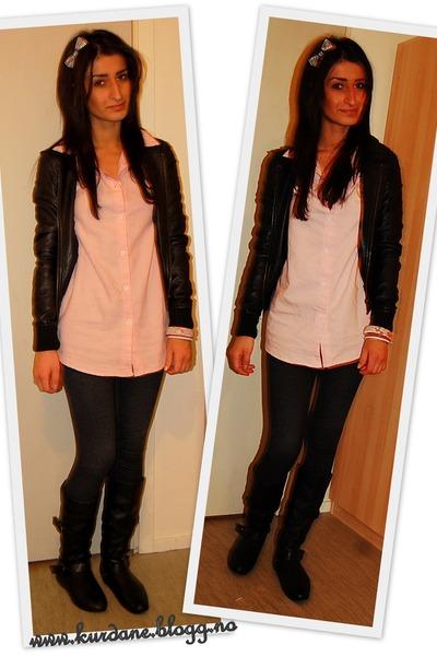 pink BikBok shirt