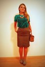 Leather-dooney-bourke-bag-cotton-soliver-t-shirt-skirt-necklace-sandals