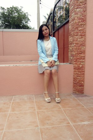 light blue cotton Rosegal blazer
