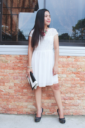 white lace chiffon elite99 dress