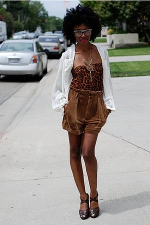 brown Leopard Sarong worn as top top - brown stuart weitzman shoes