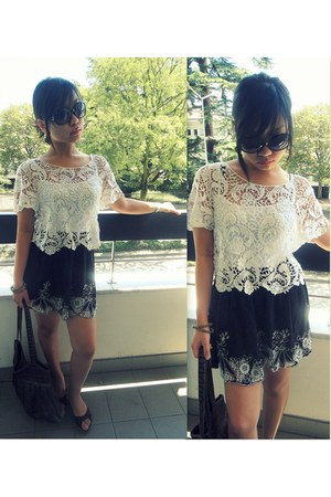 crochet top - skirt