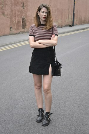 vintage skirt - Topshop boots - Zara sweater - Topshop bag