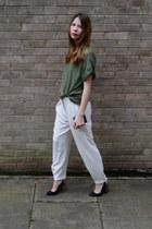 Topshop t-shirt - Zara pants - asos heels