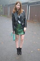 glamorouscom skirt - H&M jacket - vintage t-shirt