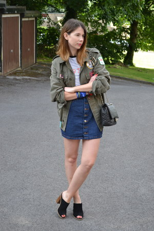 Florence and Fred shoes - Chanel bag - Ark Clothing skirt - asos t-shirt