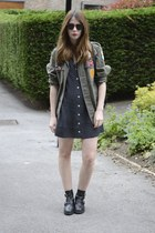 pauls boutique jacket - Topshop boots - thrifted vintage dress