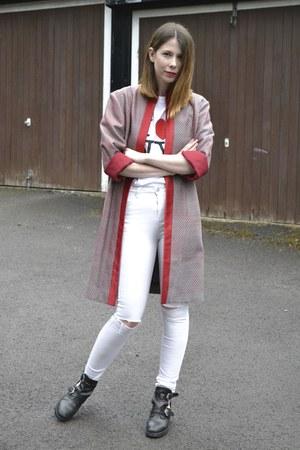 vintage jacket - Topshop boots - ark jeans