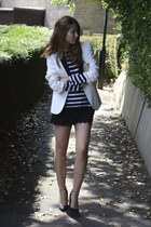 asos shoes - Topshop blazer - H&M shorts - Zara top