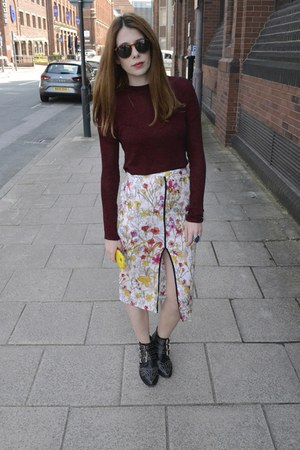Topshop skirt - Primark t-shirt